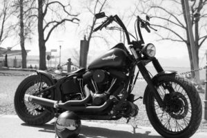Harley Davidson Black Bike