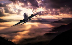 Plane Flying At Night